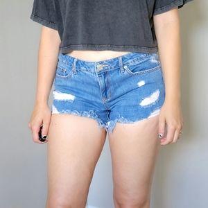🔥 Garage Distressed Denim Jean Ripped Shorts